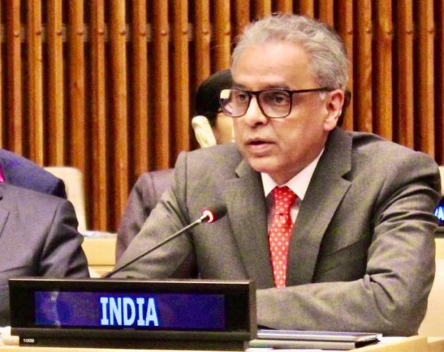 """In order to combat this menace, Akbaruddin said the international community will need to keep ahead of the new trends and technologies -- """"something that can only be achieved if we work together, with a zero-tolerance approach, bereft of double standards"""". Photo/ANI"""