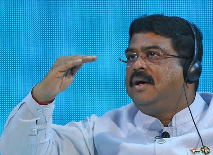 India's Minister of Oil and Gas Dharmendra Pradhan. (AFP Photo)