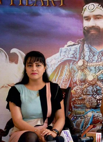 Honeypreet was named in the FIR for allegedly conspiring to incite violence in Panchkula that broke out following the conviction of the Dera head in August 2017. Photo/PTI