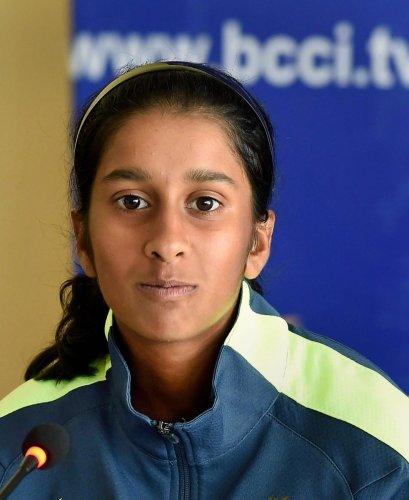 The youngest member of the Indian Women's Cricket team Jemimah Rodrigues. (PTI Photo)