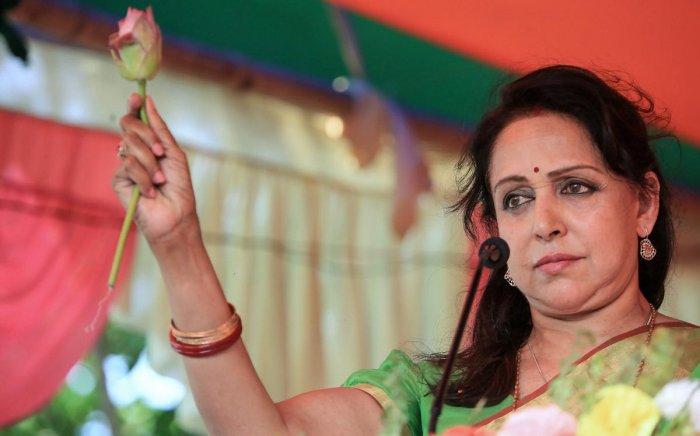 Bollywood actor and BJP leader Hema Malini. (PTI Photo)