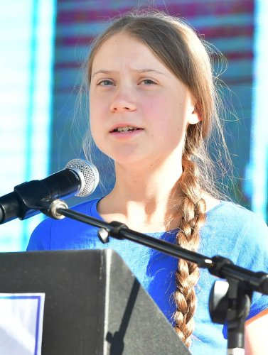 """Thunberg rose to international prominence last year when she founded the """"school strikes for the climate"""" movement. Tens of thousands of children around the world have now got involved. Photo/AFP"""