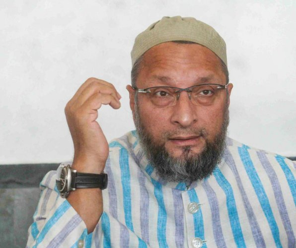 """""""Khoda pahaad, nikla chooha. Now BJP wants to disown it, but find one all over India,"""" the AIMIM chief tweeted. Photo/PTI"""
