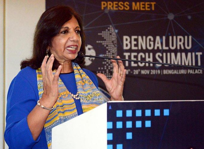 Kiran Mazumdar Shaw, a lead independent director of Infosys