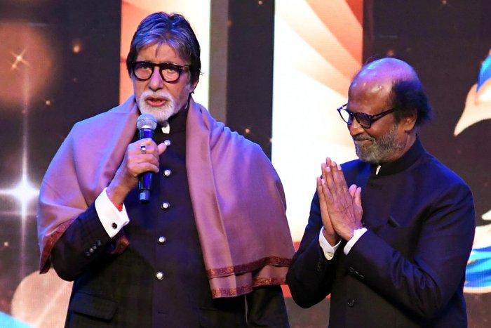 IFFI 2019 honours actor Amitabh Bachchan and Rajinikanth. (DH Photo by Pushkar V)