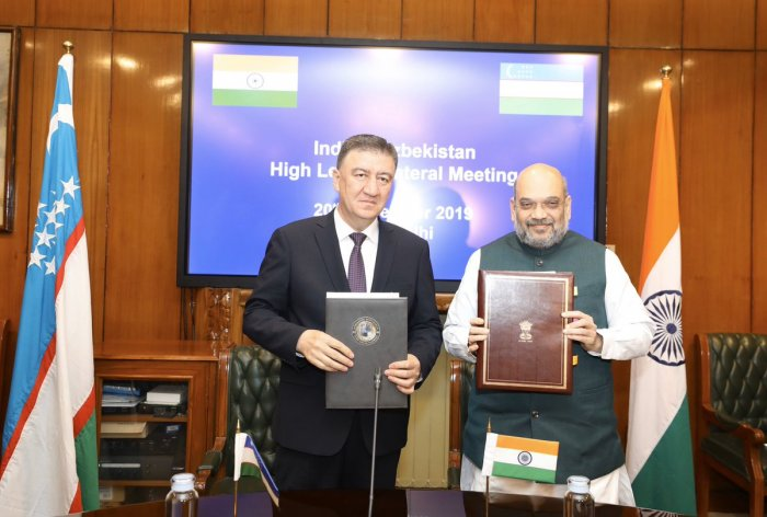 The agreement was signed by Union Home Minister Amit Shah and his Uzbekistan counterpart Pulat Bobojonov here to further increase cooperation between India and Uzbekistan in diverse fields including counter-terrorism, organized crime, and human trafficking, said a statement issued by the ministry.