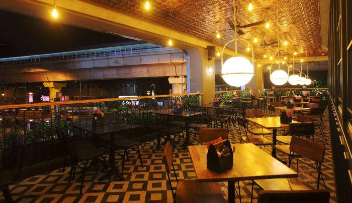 Bangalore Street Club has minimalistic interiors.