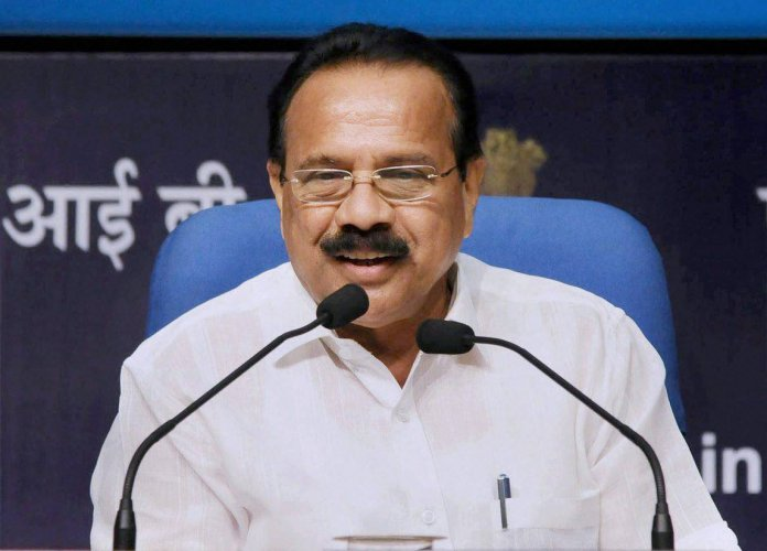 Union Minister for Statistics and Programme Implementation, D.V. Sadananda Gowda. (DH Photo)