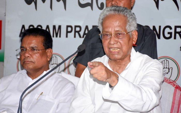 Veteran Congress leader Tarun Gogoi