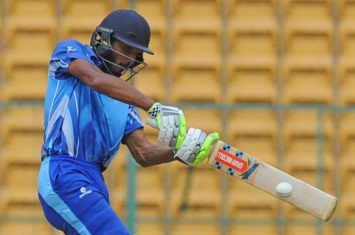 Devdutt Padikkal's 30-ball 63 powered Karnataka to a strong total against Jharkhand. DH FILE PHOTO