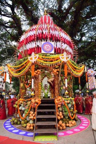 The Mannagudda Gurji of Lord Sri Sharavu Mahaganapathy.