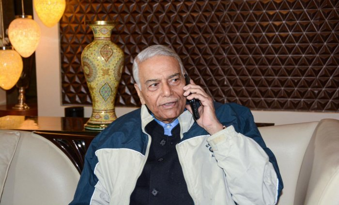 Indian Civil Society head and former union finance minister Yashwant Sinha. (Photo by PTI)