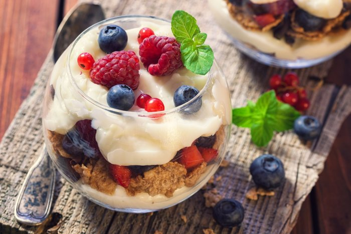 Parfaits are had as a snack, breakfast meal or even dessert.