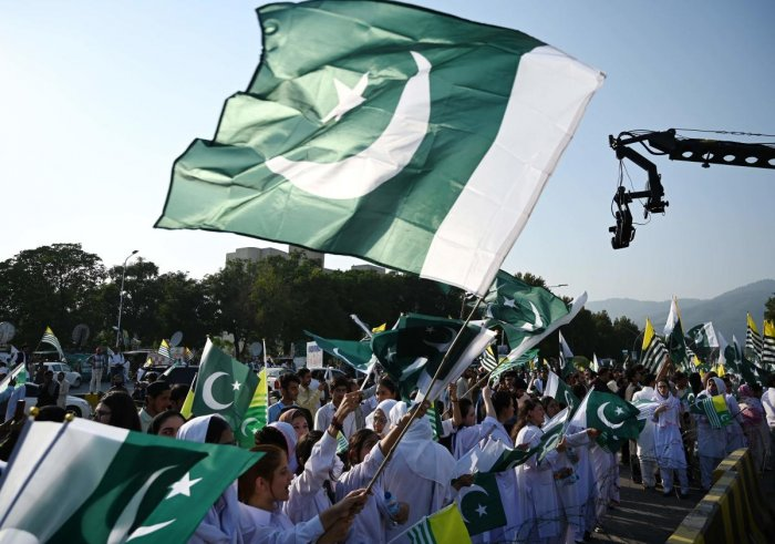 Pakistan Flag.( Photo by AFP)