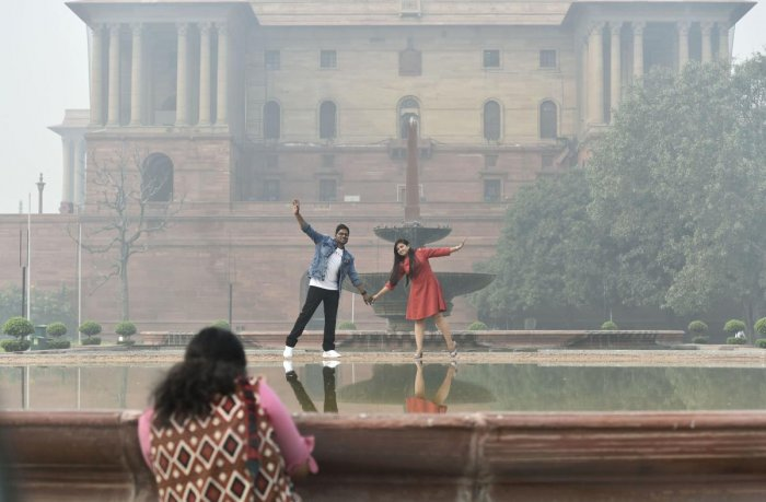 Most of the air quality monitoring stations in Delhi recorded AQI in the very poor category. (PTI Photo)