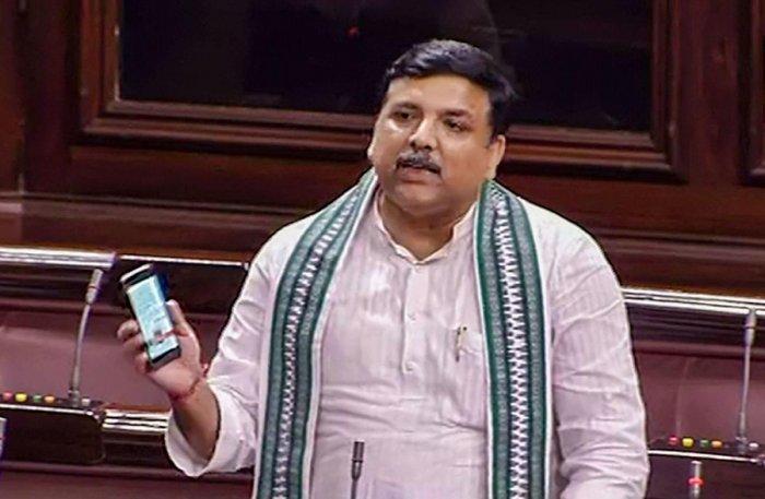 AAP MP Sanjay Singh. (PTI Photo)