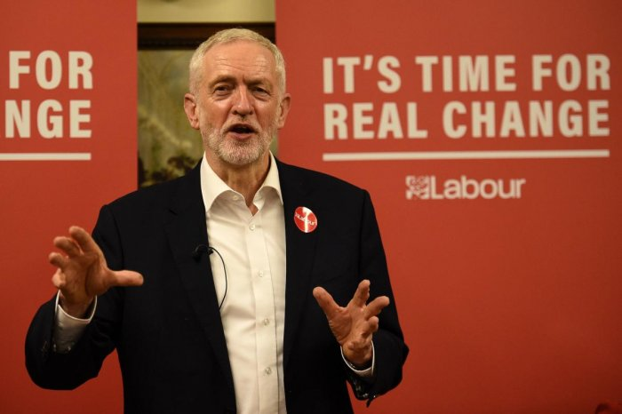 Labour party leader Jeremy Corbyn. (Photo by AFP)