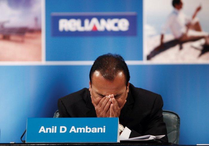 Anil Ambani, Chairman of the Reliance Anil Dhirubhai Ambani Group, attends the annual general meeting of Reliance Communication in Mumbai. (Reuters Photo)
