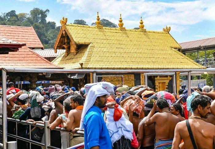 Lord Ayyappa temple at Sabarimala. (PTI Photo)