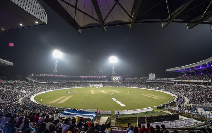 """Sambhu Dayal, Mukesh Gare and Chetan Sharma were arrested by anti-rowdy section of Kolkata Police from G1 Block of Eden Gardens,"" the police officer said. (PTI Photo)"