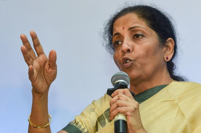 """""""Even if there is a corruption complaint against a cooperative bank, sometimes questions are raised on whether the public money is safe there,"""" said the Union Minister. (PTI Photo)"""