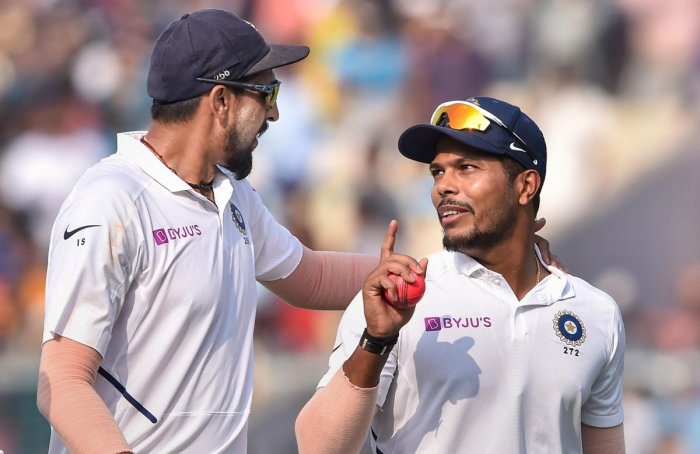 Ishant Sharma (left) and Umesh Yadav dished out a devastating performance in the second Test against Bangladesh, sharing 17 wickets between them to fashion a thumping win for the hosts. PTI