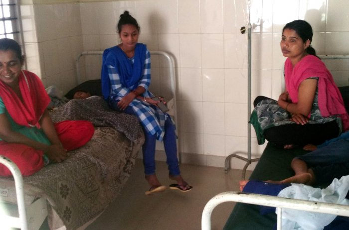 People undergo treatment at a hospital in N R Pura.