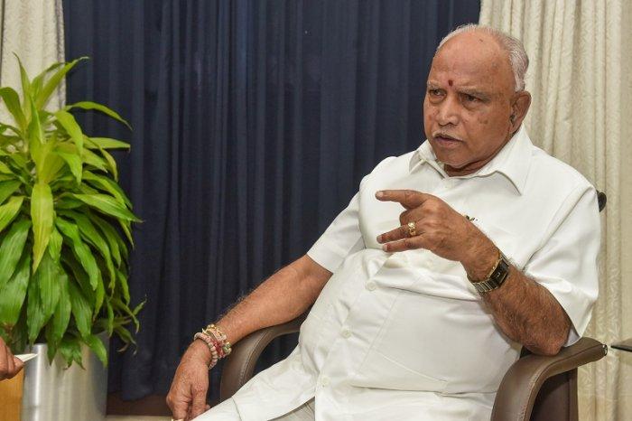 B S Yediyurappa, Chief Minister of Karnataka. (DH Photo)