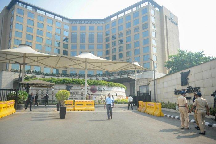The Congress legislators are still in J W Marriott hotel in suburban Andheri. (PTI file photo)