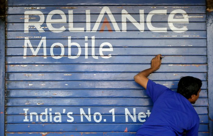 Bharti Airtel, RIL and three others are likely to bid for the assets of debt-ridden Reliance Communications on Monday, according to PTI source. (Photo by Reuters)
