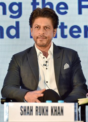 "Superstar Shah Rukh Khan on Monday announced his next production, ""Bob Biswas"", featuring Abhishek Bachchan in the lead. Photo/PTI"
