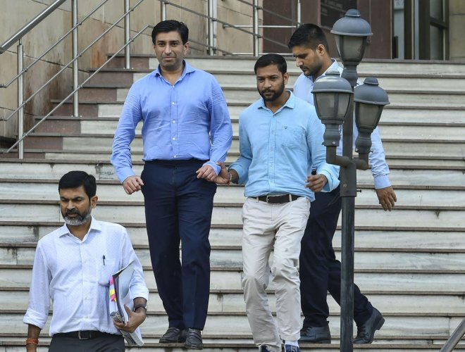 Madhya Pradesh Chief Minister Kamal Nath's nephew Ratul Puri leaves Enforcement Directorate office after being arrested in connection with a Rs 354 crore bank loan fraud case. Photo by PTI