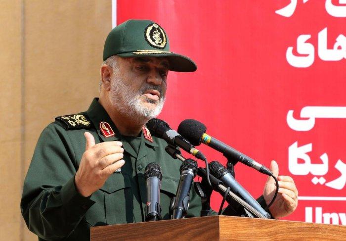 Iranian Revolutionary Guards commander Major General Hossein Salami. Photo by AFP