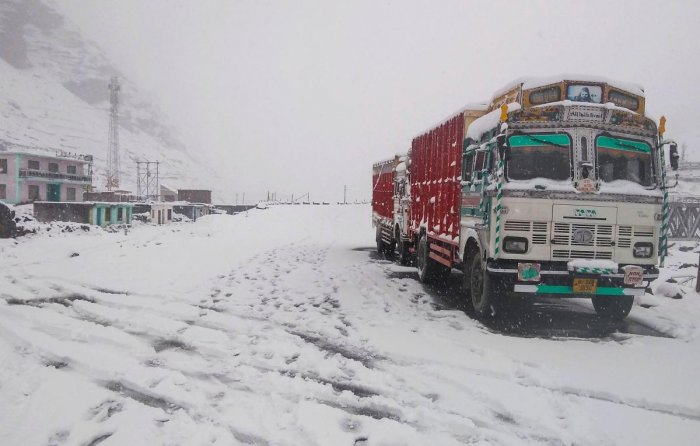 Leh town of Ladakh was the coldest recorded place at a low of minus 6.3 degrees Celsius. (PTI Photo)