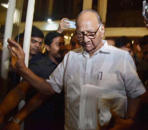 Pawar also attended a 'bhajan' ceremony organised as a mark of respect to the late Congress stalwart. (PTI Photo)