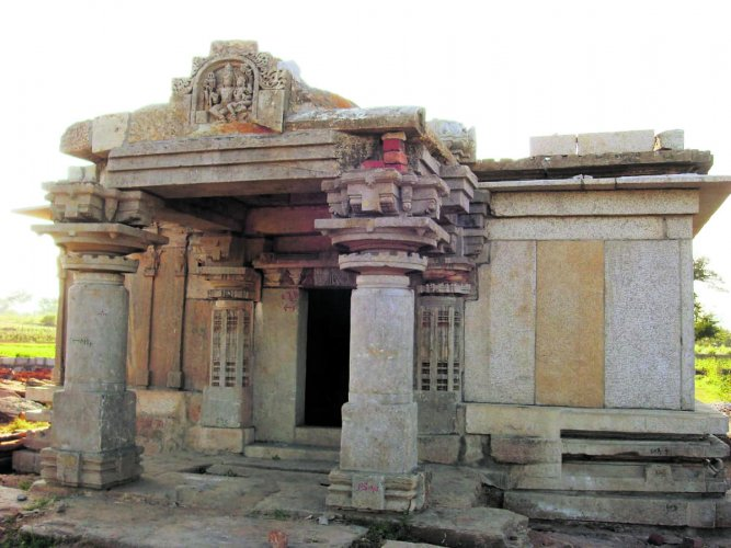 The renovated Machalaghatta temple, the work for which was initiated by Mohammed Kaleemulla.