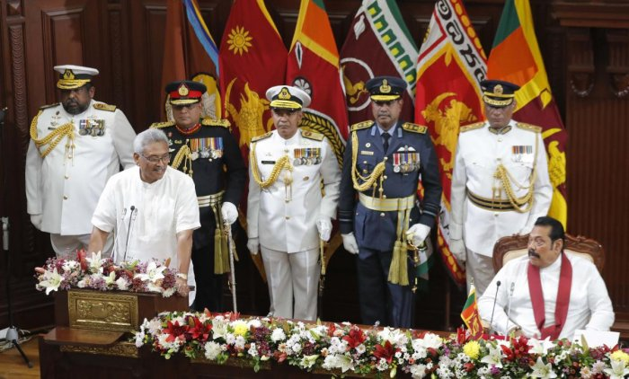 Gotabaya Rajapaksa, who was elected the country's new president after the November 16 polls, told a gathering yesterday that the chief investigator in all politically-motivated investigations against them had fled the country. AP/PTI