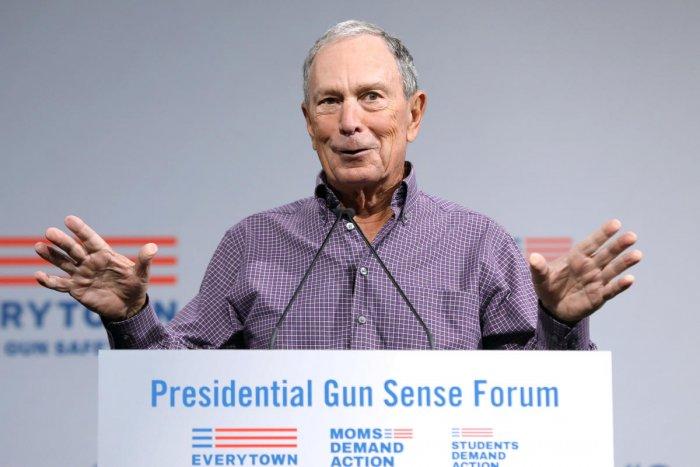 Former New York City Mayor Michael R. Bloomberg speaks during the Presidential Gun Sense Forum in Des Moines, Iowa. Reuters