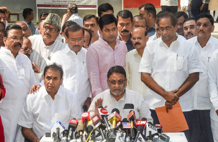 NCP's chief spokesperson Nawab Malik on Sunday claimed that the three MLAs were flown to Delhi in a chartered plane by the BJP on Saturday after they attended Ajit Pawar's swearing-in.