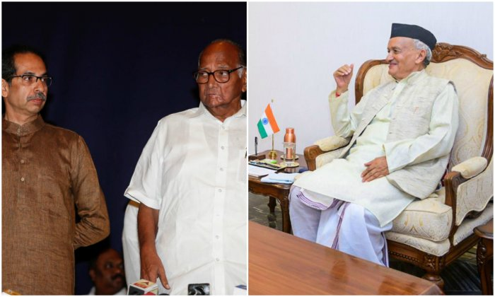 The letter was signed by Eknath Shinde, Jayant Patil and Balasaheb Thorat, the legislature party leaders of the Shiv Sena, NCP and Congress, respectively. (PTI Photos)