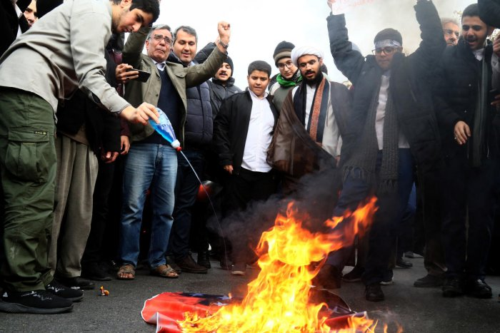 A view of the Iran protest. (Reuters file photo)