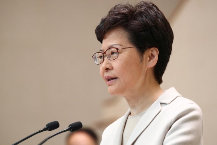 Hong Kong chief executive Carrie Lam. (Reuters photo)