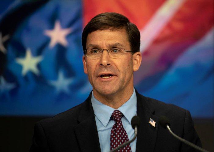 US Defense Secretary Mark T. Esper. (Reuters file photo)