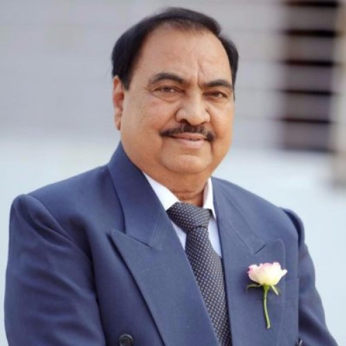 Senior BJP leader Eknath Khadse(Photo by DH)