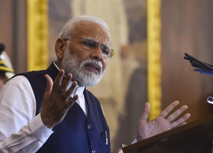 Prime Minister Narendra Modi on Tuesday thanked the Israeli leadership for their wishes on Constitution Day, saying the two countries share and value the same principles of democracy. Photo/PTI
