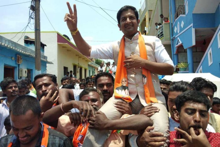 "Addressing an election rally at Bailnarasapur in the taluk on Monday, Sharath, son of Chikballapur BJP MP B N Bachegowda, said, ""I am not for sale. I will not back out even if Nagaraj gives me his entire wealth."""