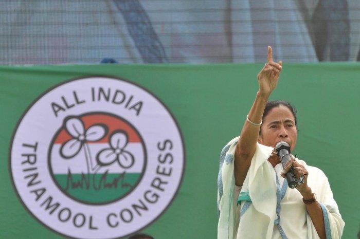 TMC at present has 22 members in Lok Sabha and 13 in Rajya Sabha.Photo/AFP