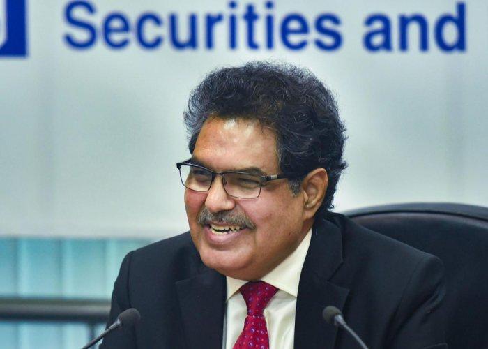 Ajay Tyagi, chairman of Securities and Exchange Board of India (SEBI). (PTI file photo)