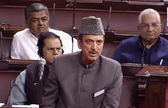 Congress leader Ghulam Nabi Azad. (PTI file photo)