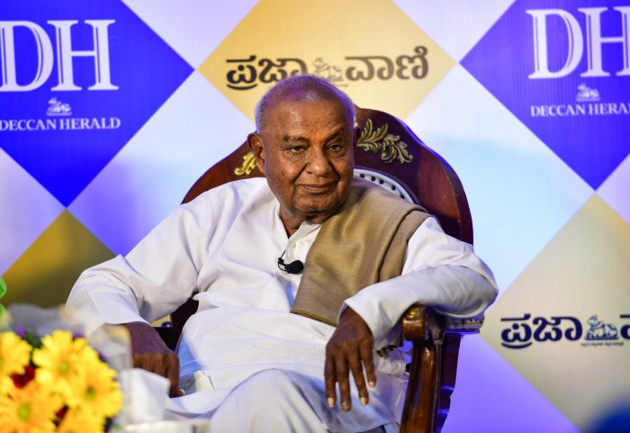 JDS President H D Deve Gowda. (DH file photo)